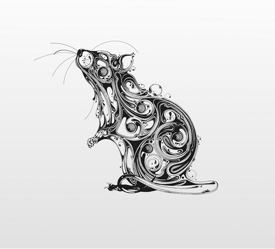 Desenhos em preto e branco de Si Scott - 05