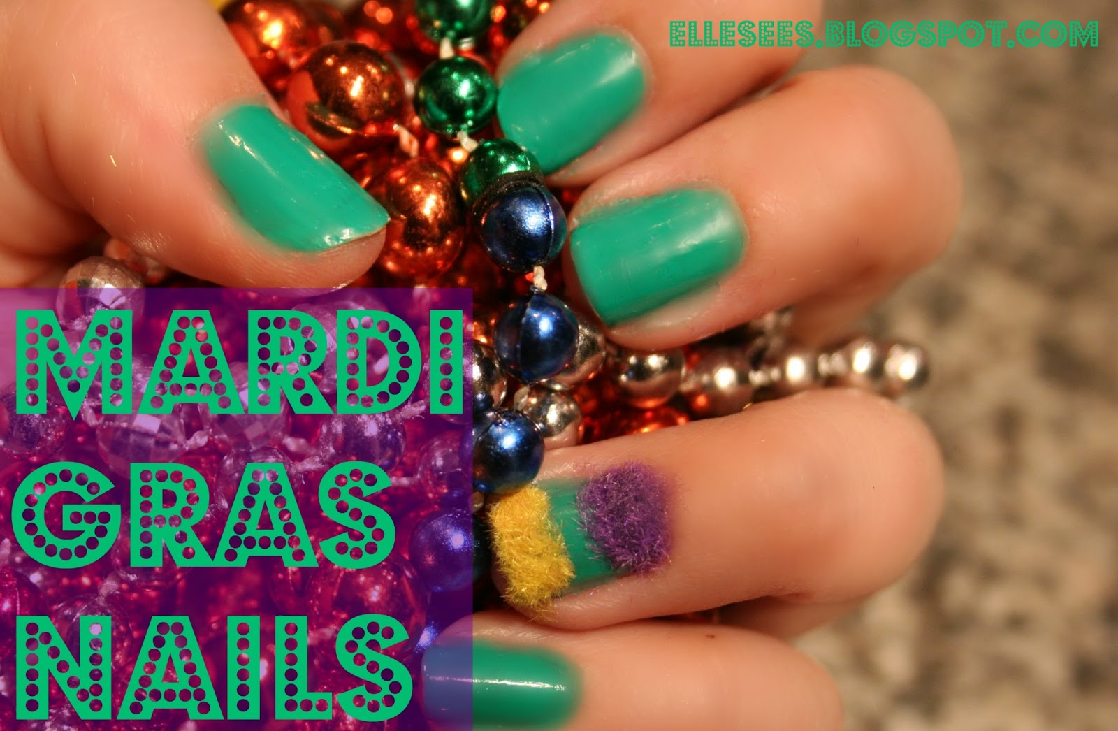 Elle Sees|| Beauty Blogger in Atlanta: How To: Mardi Gras Nails