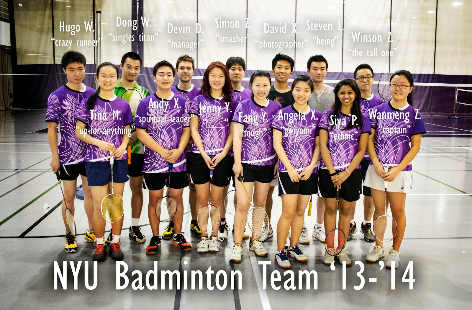official team photo nyu badminton official team photo