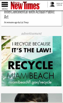 Miami Beach Advertisement in the Miami New Times