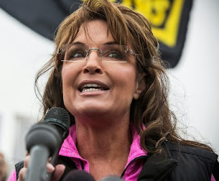 Sarah Palin at Sunday's protest at the World War II Memorial in Washington, D.C.