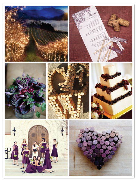 vintage winery grape theme wedding stationery inspiration board