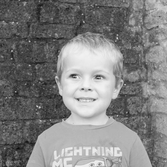 Ritratto fotografico di bambino