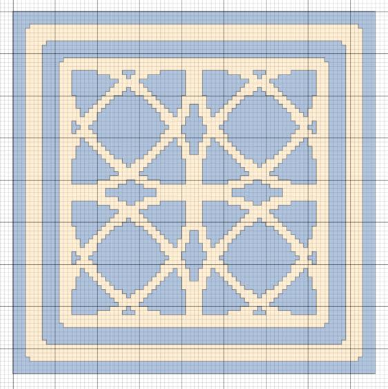 Imaginesque: Cross Stitch Pattern for Pincushion or Biscornu