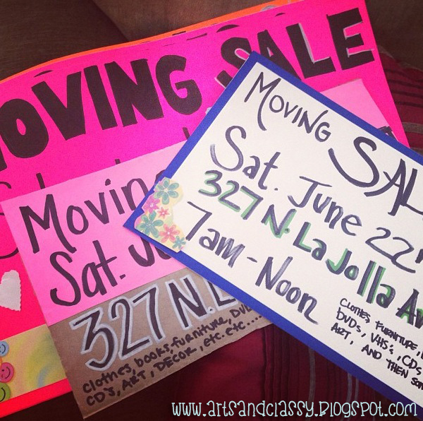 moving sale marketing