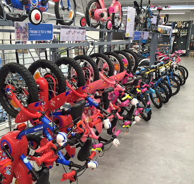 Children's bike selection at Decathlon Gateshead