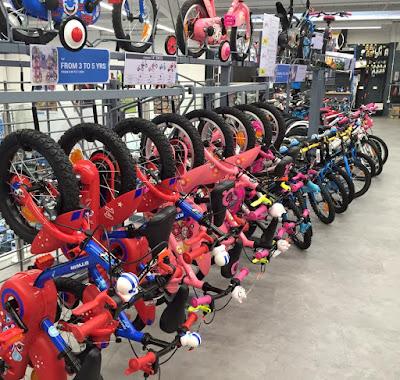Children's bike selection at Decathlon Gateshead