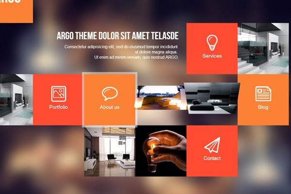 Argo – Modern OnePage Metro UI WordPress Theme