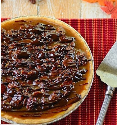 Pumpkin Pie with Chocolate and Pecans