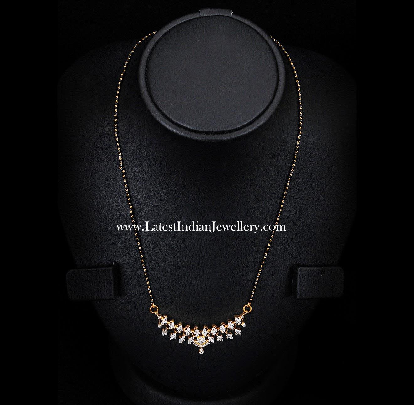 black beads diamond pendant