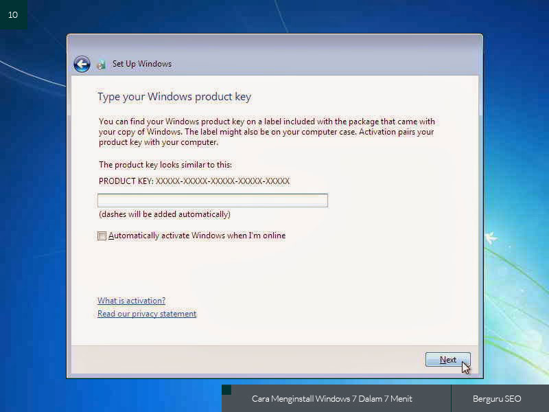 Cara Menginstall Windows 7 gambar 10
