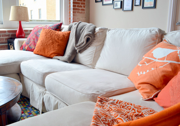 White slipcovered couch JcPenney Natural Friday Sectional - Why A White Couch? - DIY Playbook