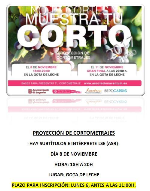 Muestra de CORTOS con ILSe + subtítulos - 8 noviembre, Logroño Proyeccion%2Bde%2Bcortometrajes