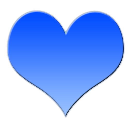how to make blue heart on facebook