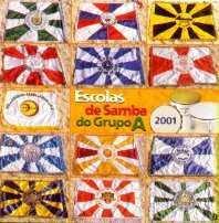 foto da capa do cd sambas de enredo 2001 grupo de acesso