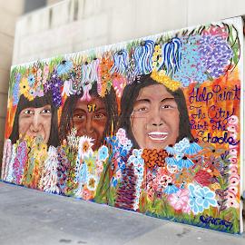 @paintthecity mural on Oak Street.
