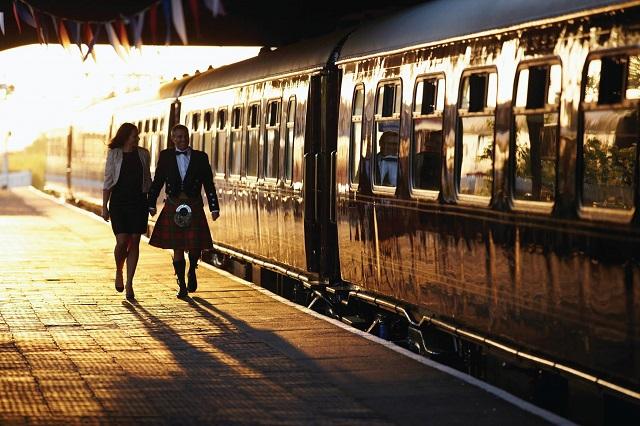 Belmond Royal Scotsman is a luxury train travelling through the Scottish Highlands.