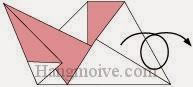 Bước 8: Lật mặt sau tờ giấy ra đằng trước.