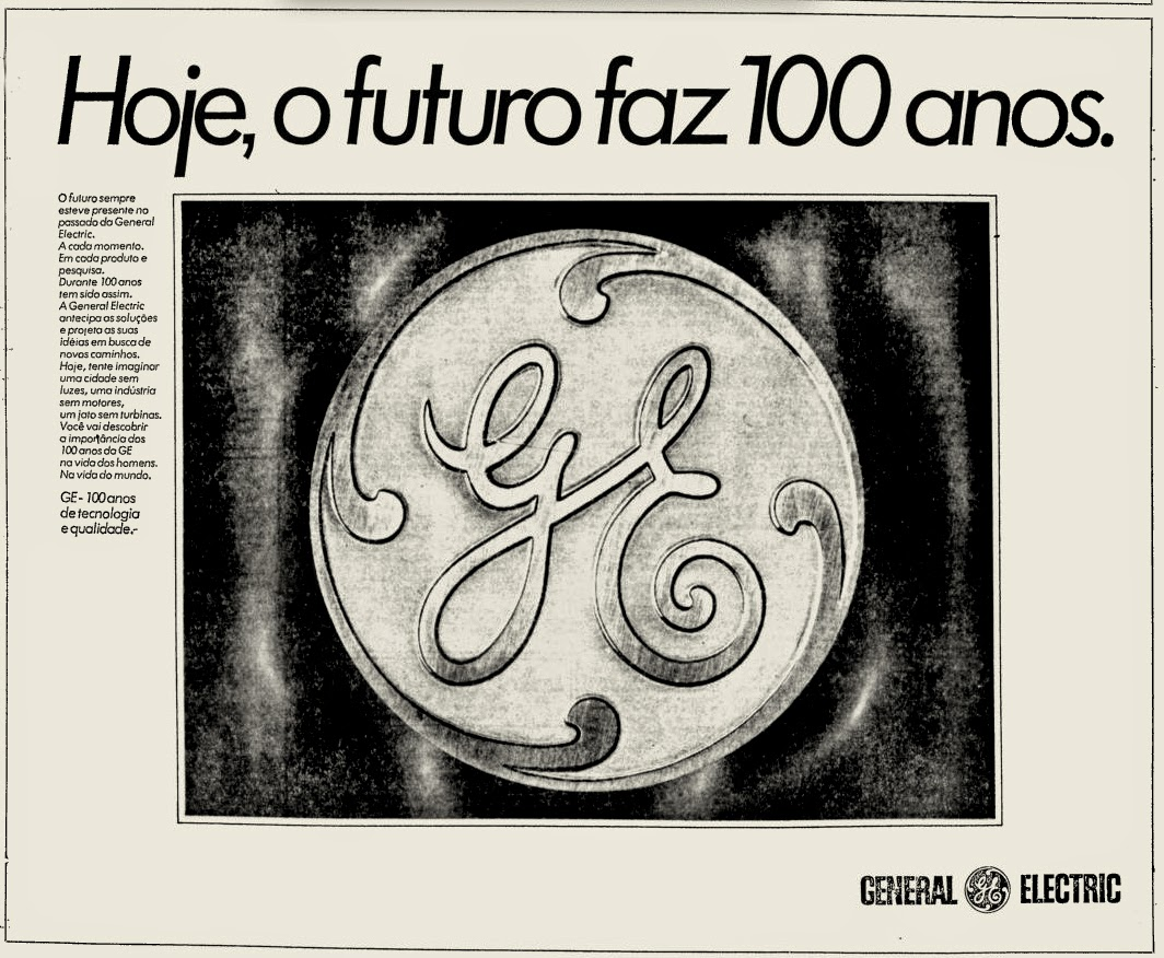 General Electric - GE.  os anos 70; propaganda na década de 70; Brazil in the 70s, história anos 70; Oswaldo Hernandez;