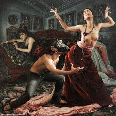 Surrealismo Retratos Mujeres Pintura Alexandra Manukyan