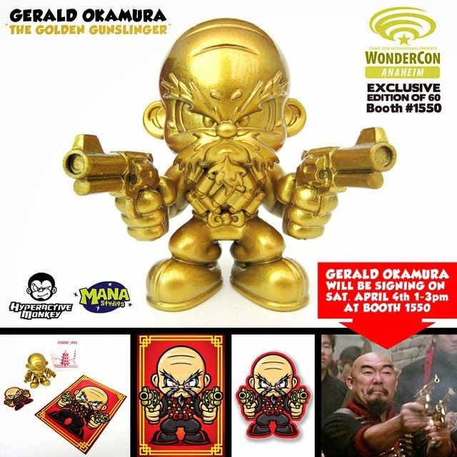 WonderCon 2015 Exclusive The Golden Gunslinger Resin Figure by Hyperactive Monkey x Gerald Okamura