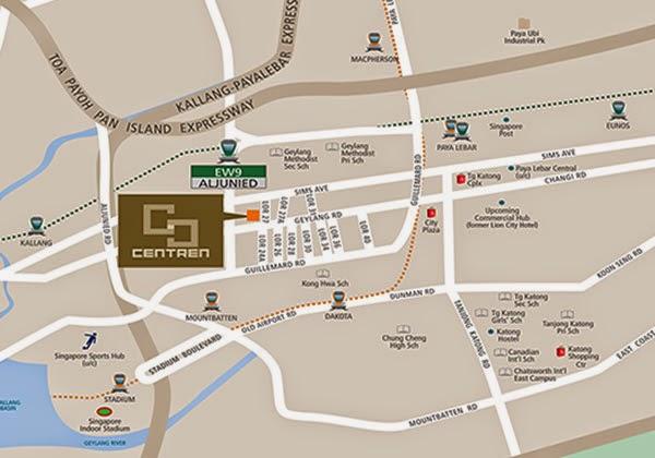 The Centren @ Geylang Location Map