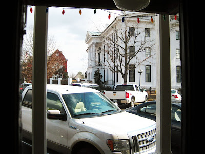 View onto Historic Square from Ajax Diner, Oxford, Mississippi