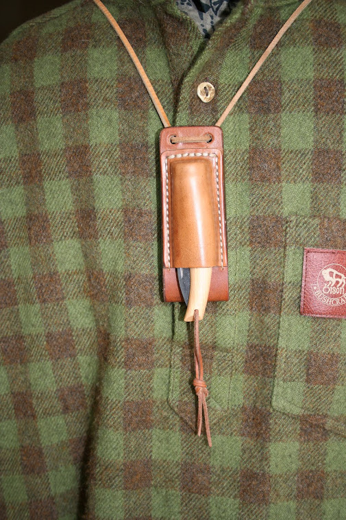 Neck / belt sheath for Opinel No8