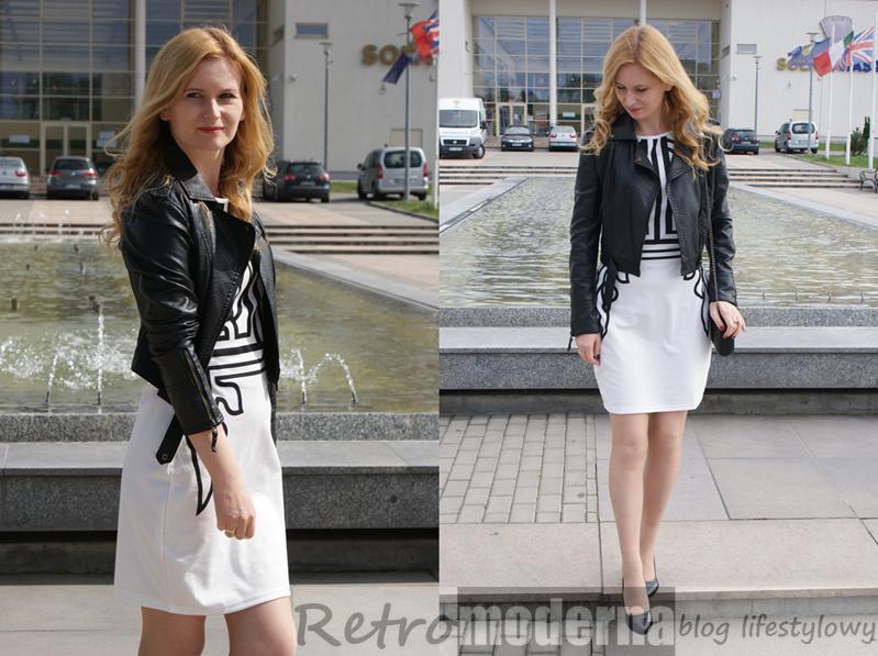 Czarno białe sukienki