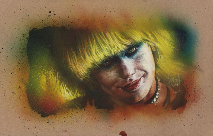 Daryl Hannah as Pris, Original Artwork Copyright © 2014 Jeff Lafferty