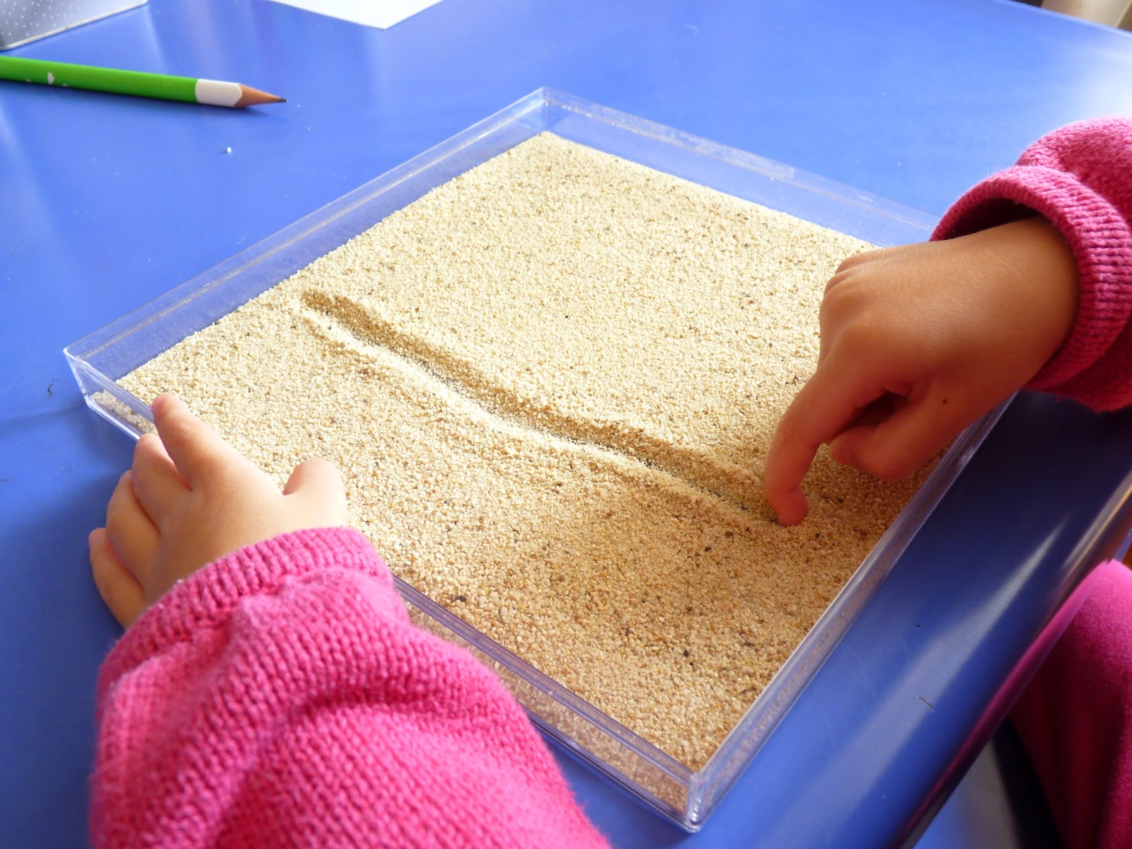 Teaching Letters V Writing In Sand
