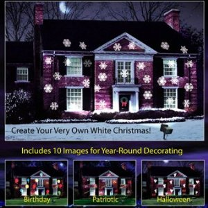 mr christmas year round outdoor lighted panoramic motion projector - Mr Christmas Outdoor Decorations