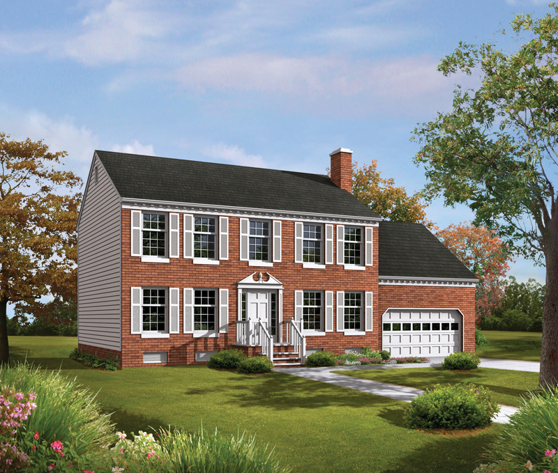 Rose valley ranch plans for Brick colonial house plans