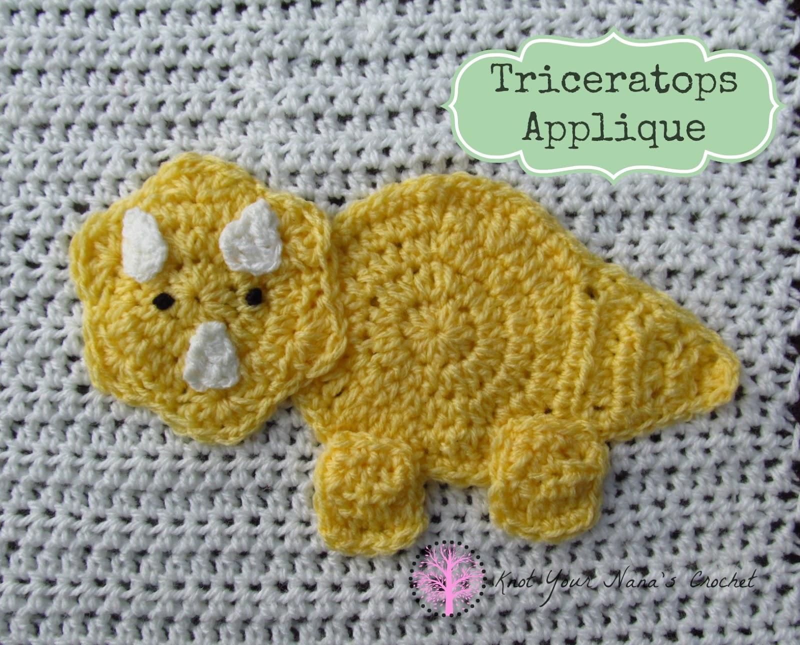 Crochet Dinosaur Afghan Pattern : Knot Your Nanas Crochet: Crochet Dinosaur Blanket