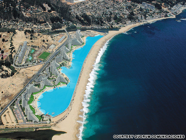 Predictable history unpredictable past the world 39 s most - The biggest swimming pool in chile ...