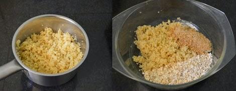 preparation for quinoa breakfast bites