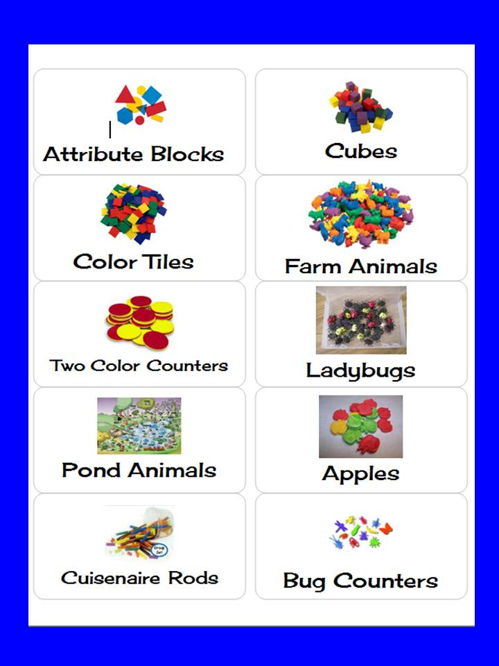Teacher's Touch: Labels for Math Manipulatives