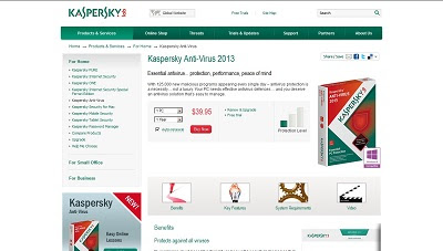 Kaspersky Anti-Virus 2013, Antivirus