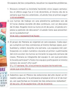 Respuestas Apoyo Primaria Desafíos matemáticos 4to grado Bloque I lección 22 El tiempo pasa
