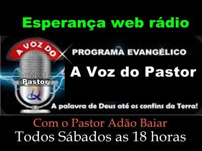 Programa a voz do Pastor