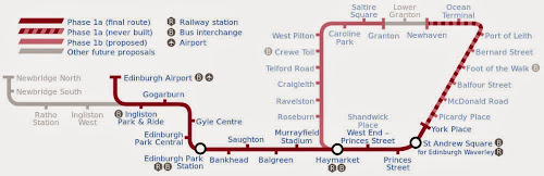 Edinburgh Tramway map