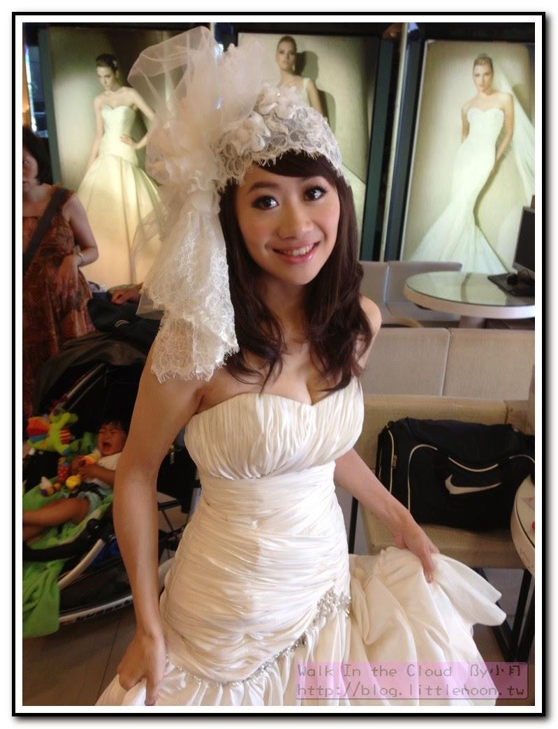 第一套白紗搭配手工飾品