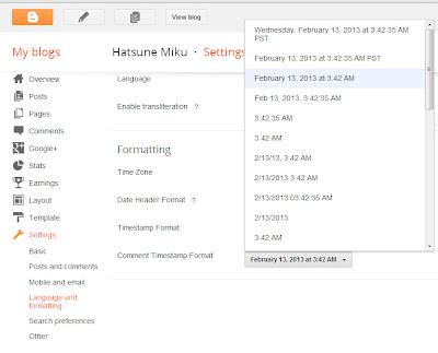 Timestamp Format :