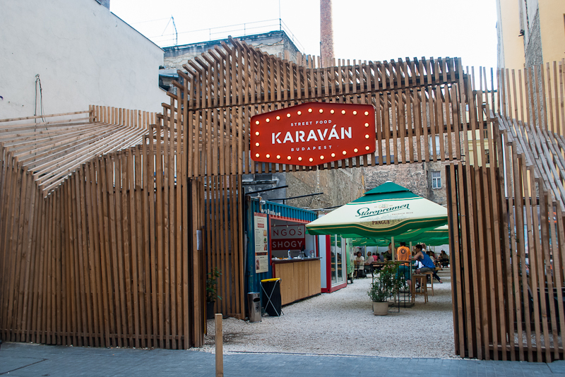 Karavan street food area in budapest