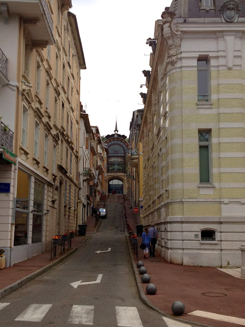 Street in Evian, France, on Semi-Charmed Kind of Life