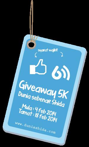 Giveaway 5K Dunia Sebenar Shida