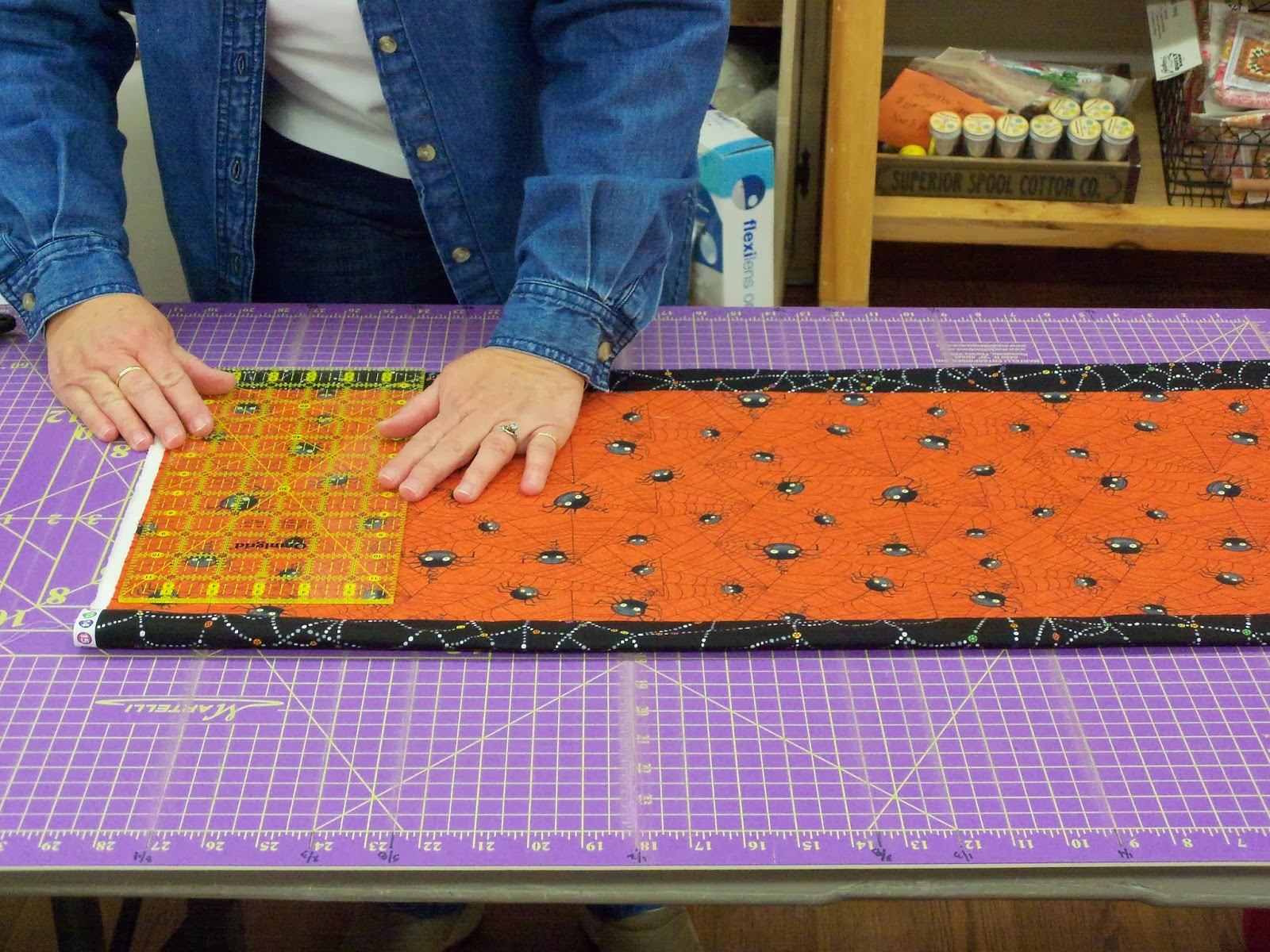 Creative b designs open sewing ten minute table runner for 10 min table runner