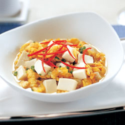 Silken tofu with egg recipe
