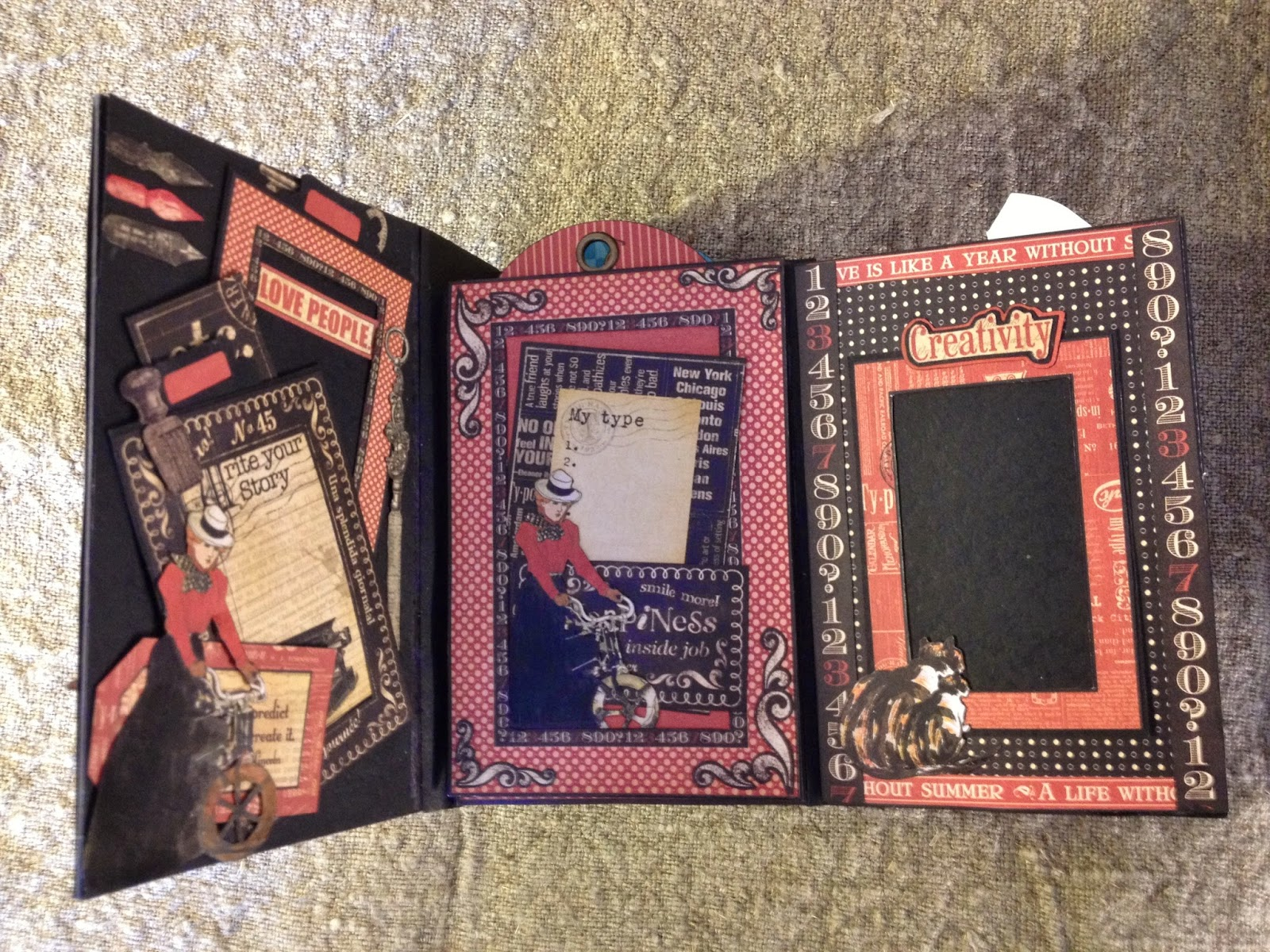 How to make scrapbook vintage - Tried To Make All The Pages Coordinate To Each Other In Color All The Pages Closes With Magnets