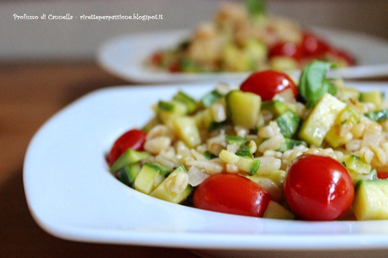 granotto con zucchine e pomodorini - estate ancora per poco